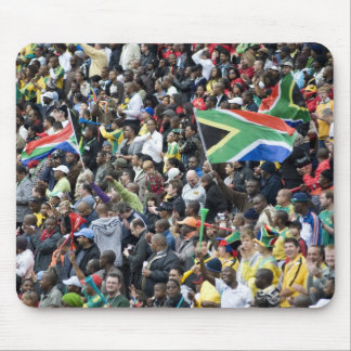 Crowd shot at a soccer game, with South African Mouse Mat