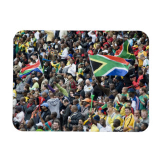 Crowd shot at a soccer game, with South African Rectangular Photo Magnet