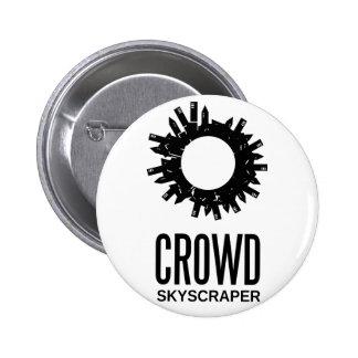 crowd skyscraper 6 cm round badge
