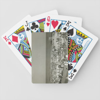 Crowded Beach Bicycle Playing Cards