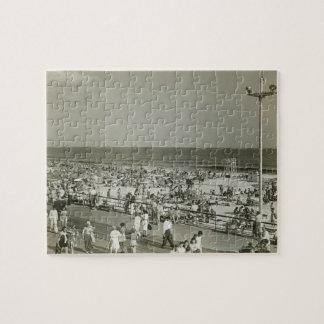 Crowded Beach Jigsaw Puzzle