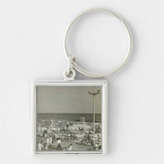 Crowded Beach Key Ring