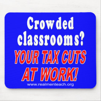 Crowded classrooms (blue) mouse pad