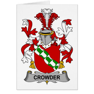 Crowder Family Crest Cards