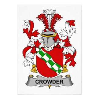Crowder Family Crest Personalized Invitation