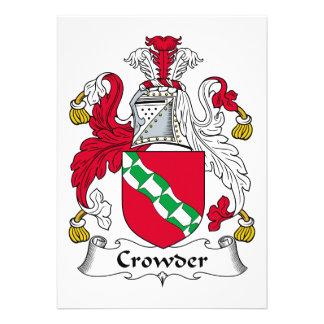 Crowder Family Crest Card