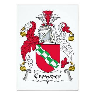 "Crowder Family Crest 5"" X 7"" Invitation Card"
