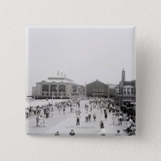 Crowds 15 Cm Square Badge
