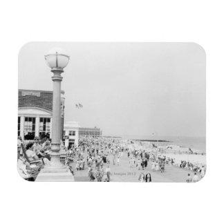 Crowds 2 rectangular photo magnet
