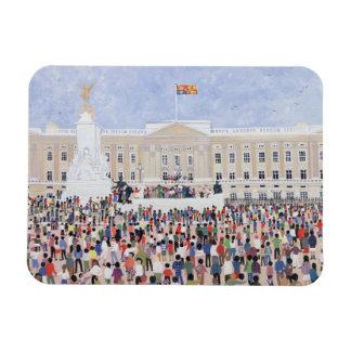 Crowds around the Palace 1995 Rectangular Photo Magnet