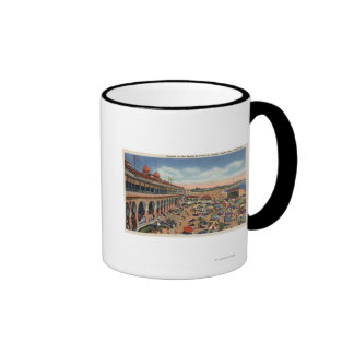 Crowds on the Beach in Front of Casino Coffee Mugs