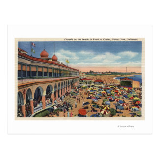 Crowds on the Beach in Front of Casino Postcards