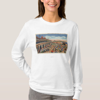 Crowds on the Beach in Front of Casino T-Shirt