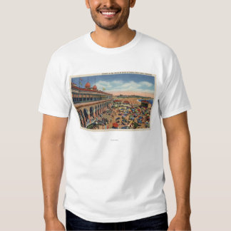 Crowds on the Beach in Front of Casino Tee Shirts