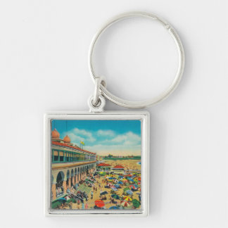 Crowds on the Beach in front of the Casino Key Ring