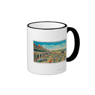 Crowds on the Beach in front of the Casino Mug