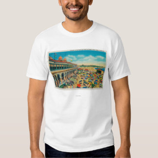 Crowds on the Beach in front of the Casino Tee Shirt