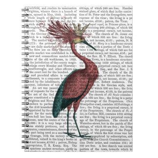 Crowed Marsala Heron Notebook