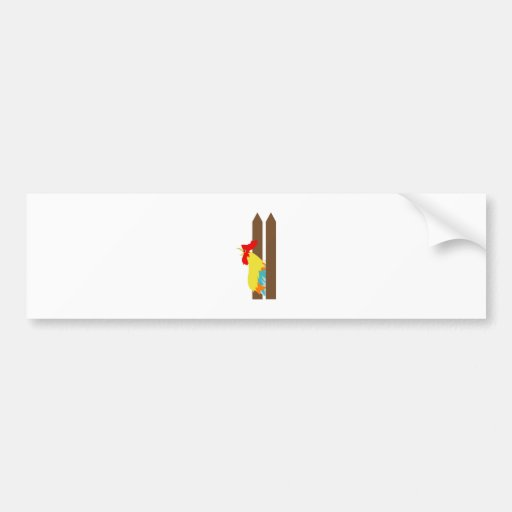 Crowing Rooster Bumper Stickers