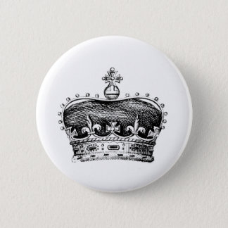 Crown 6 Cm Round Badge