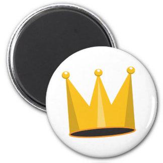 Crown 6 Cm Round Magnet