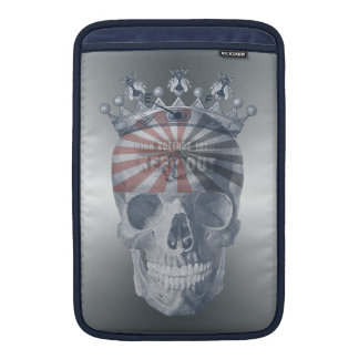 Crown Anchor Bees High Voltage Keep Out Skull MacBook Sleeve