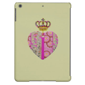 CROWN AND HEART ORNAMENT iPad AIR COVERS