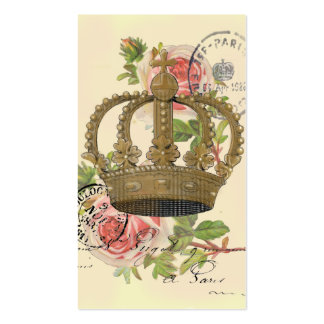 Crown and roses Double-Sided standard business cards (Pack of 100)