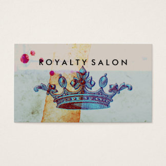 Crown and Watercolor Business Cards