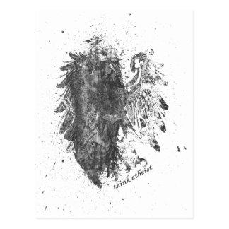 Crown-Atheist-Bird Postcard
