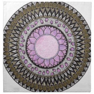 Crown Chakra Mandala Napkin