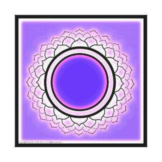 Crown Chakra Symbol Canvas Print