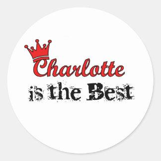 Crown Charlotte Round Sticker