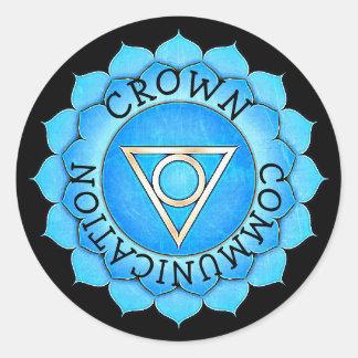 Crown Communitcation Chi  Chakra Stickers