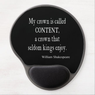 Crown Content Seldom Kings Enjoy Shakespeare Quote Gel Mouse Pad