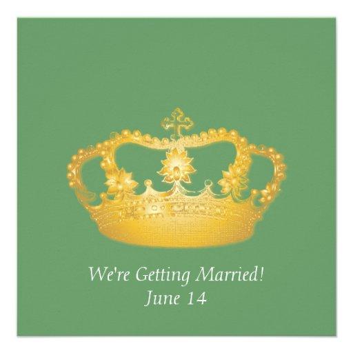 Crown Design II -  Gold Custom Invites