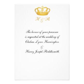 Crown Design II - Gold Custom Invitation