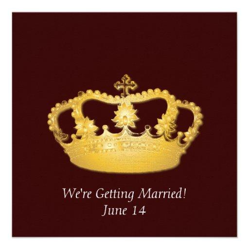 Crown Design II -  Gold Custom Announcement