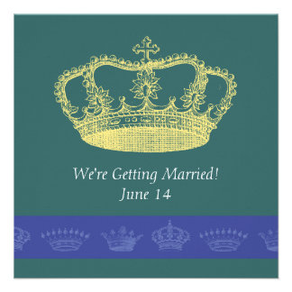 Crown Designs - Blue Invites
