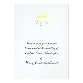 Crown Designs -  Gold 13 Cm X 18 Cm Invitation Card
