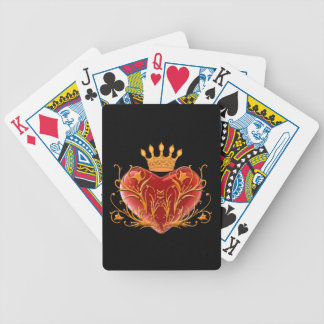 Crown Filigree Heart Playing Cards