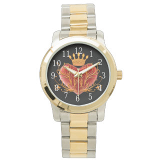 Crown Filigree Heart Watch