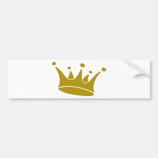 crown-gold-3 bumper sticker