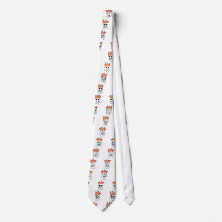 Crown hat skull tie