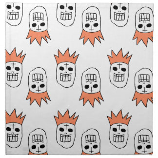 Crown hat skulls cloth napkins