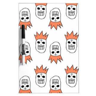 Crown hat skulls dry erase boards