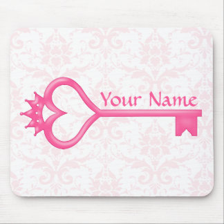 Crown Heart Key Mouse Pad