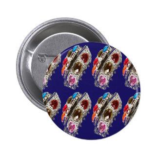 Crown Imitation Jewel Pattern KIDS Partyroom FUN 6 Cm Round Badge