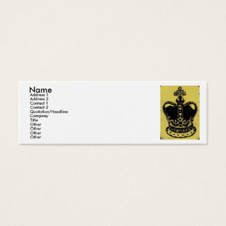crown jewels aged mini business card