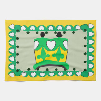 CROWN KIDS GREEN CARTOON Linen with crockery Tea Towel